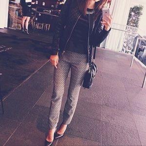 Zara Woman Black and White Print Pant